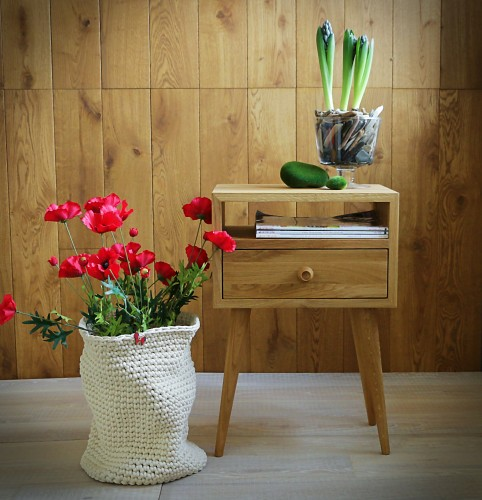 Solid Oak Bedside Table, NO-03-EN