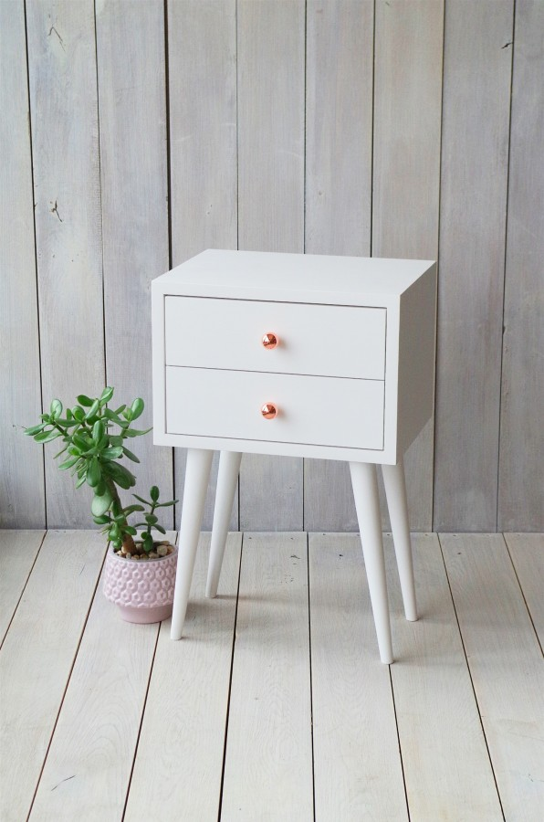 White bedside table ALD-0005W