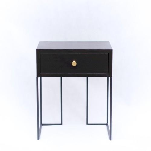 Black bedside cabinet, NO-02-NB