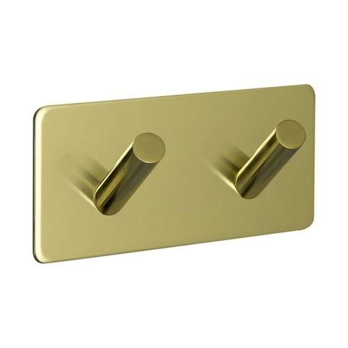 Hook BASE 200 -2-hook - 605204 brass