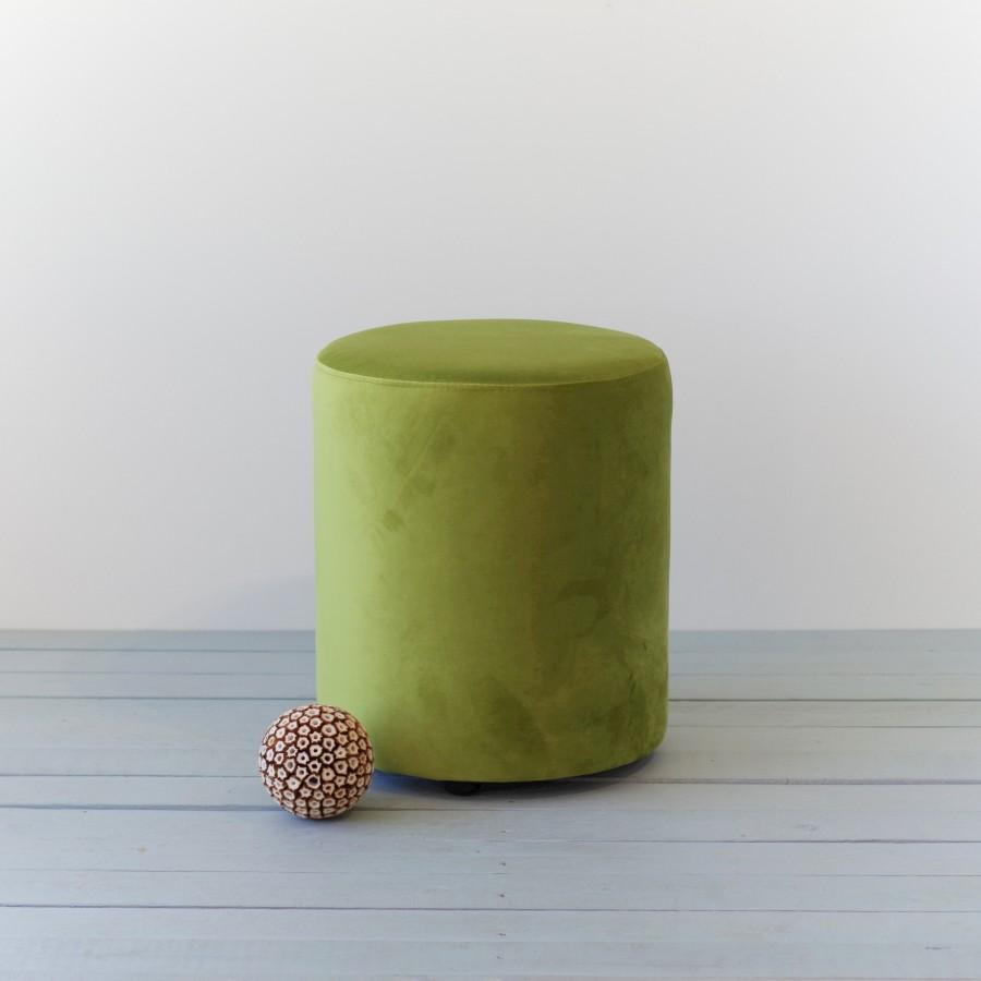 YELLOW green pouf