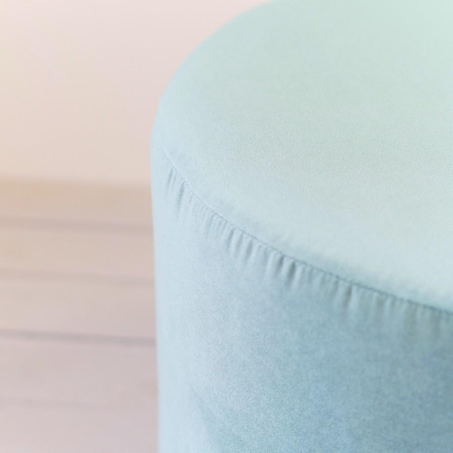 ICE blue pouf