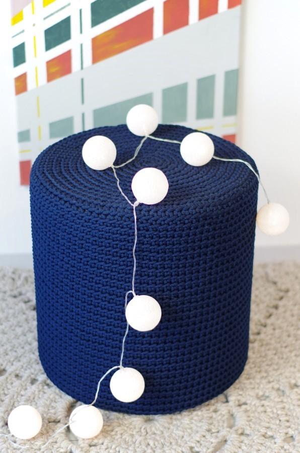 SOFT blue pouf
