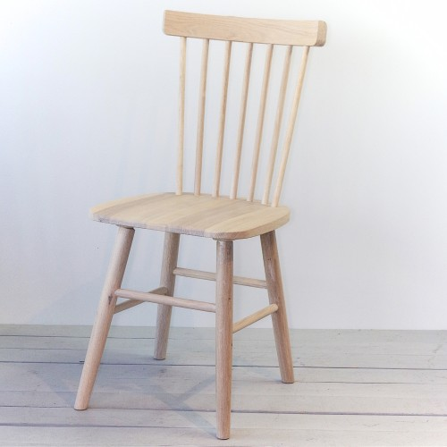 Set of two solid oak w.oiled chairs, SCAND