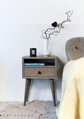 Solid Oak Bedside Table, NO-03-EG