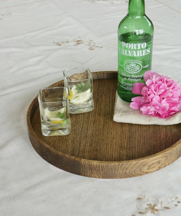Solid oak tray SMOKED