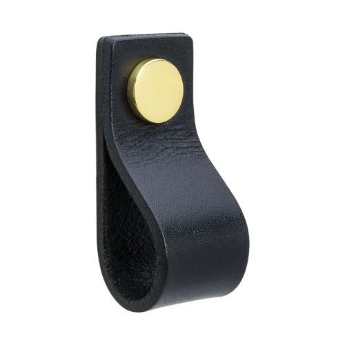 Handle LOOP 333121-11 leather black