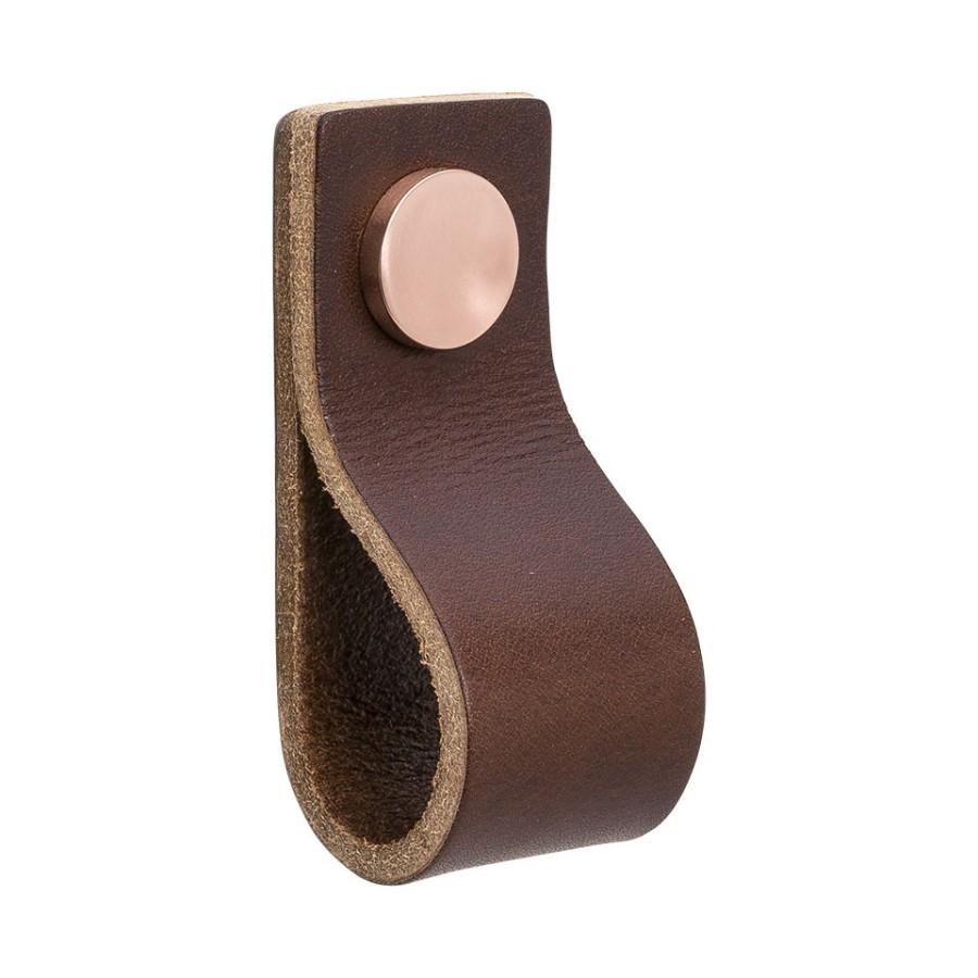 Handle LOOP 333132-11 leather brown