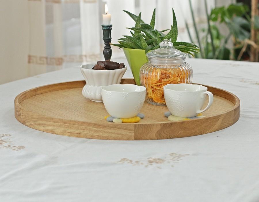 Large oak wood tray, NATURAL