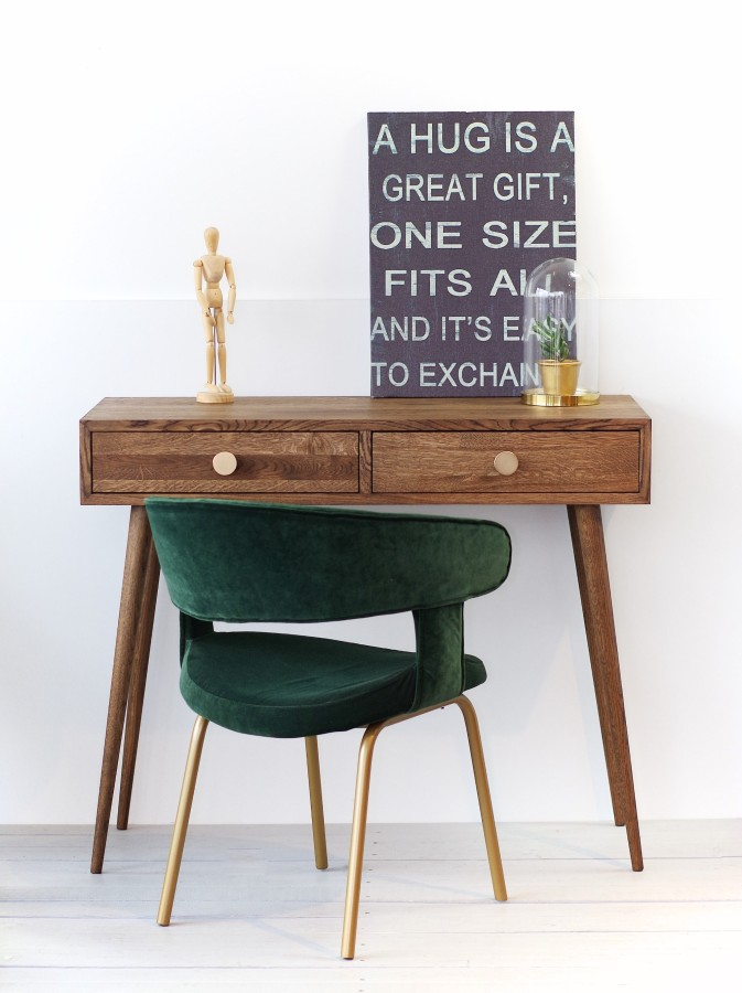 Oak console table / oak desk NO06-1000SM
