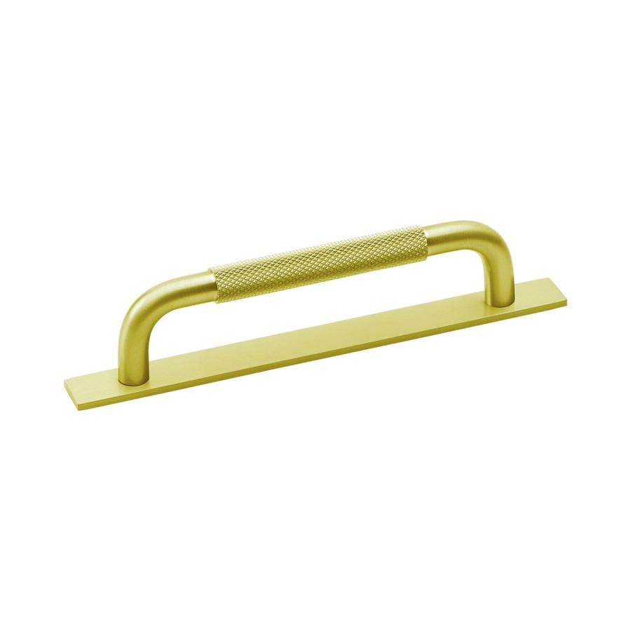 Handle Helix med bricka brass