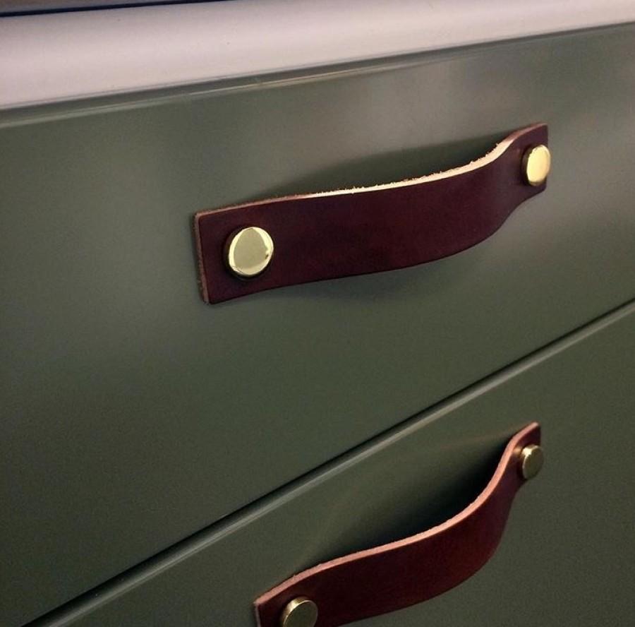 Handle LOOP-128 333171-11 leather brown