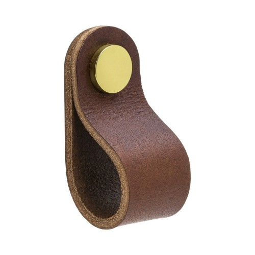 Knob LOOP Round-333231-11 leather brown