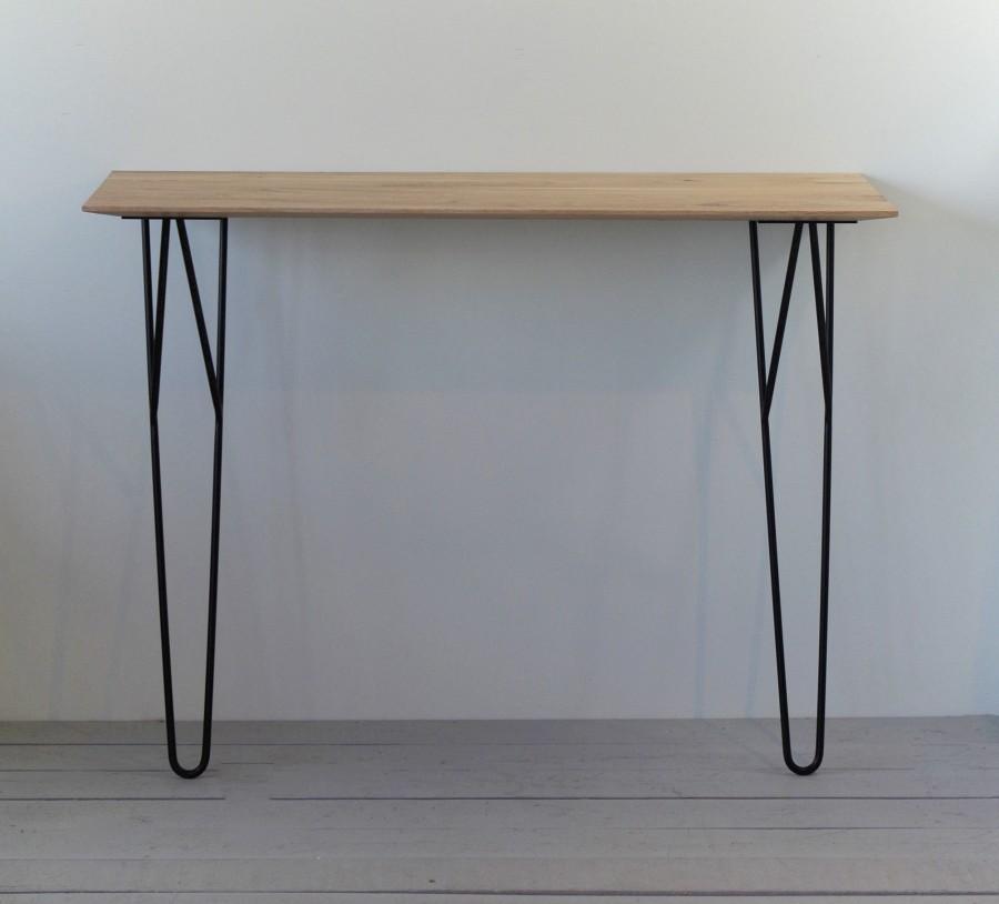 Solid oak console table, MINI 100