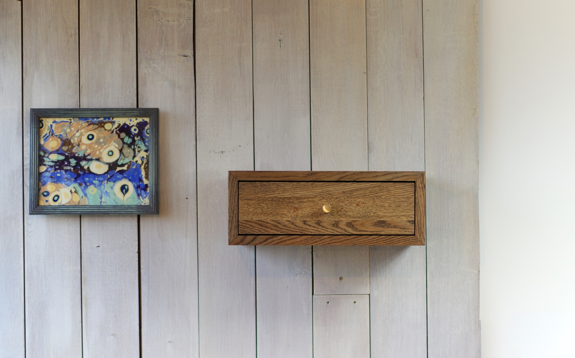 Floating Nightstand With Drawer No 07 Es